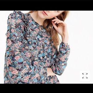 J. Crew Tops - 🌼Blouse Sale🌼 Ruffle Front Paisley Floral Blouse